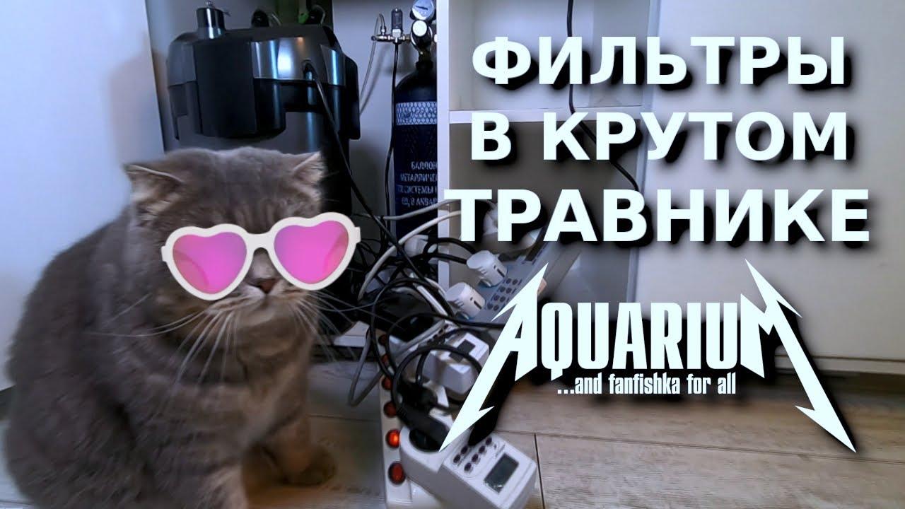 Фильтры в крутом аквариуме травнике!