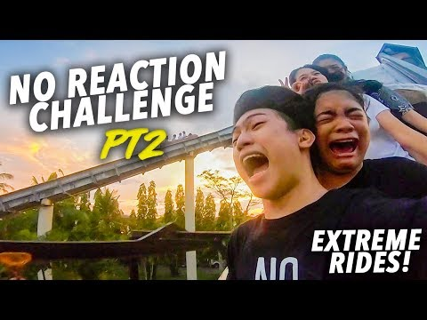 EXTREME RIDES NO REACTION CHALLENGE! (Passed out!) | Ranz and Niana