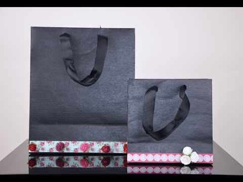 How To Decorate A Plain Gift Bag Youtube