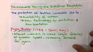 Industrial Revolution- Cottage vs Factory Production