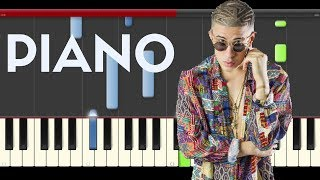 Bad Bunny Gigolo & La Exce Sexto Sentido Piano Midi tutorial Sheet app Cover Karaoke