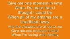 Whitney Houston- one moment in time lyrics