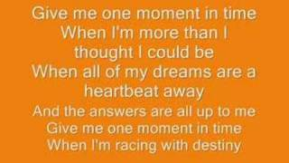 Video Whitney Houston- one moment in time lyrics download MP3, 3GP, MP4, WEBM, AVI, FLV Januari 2018