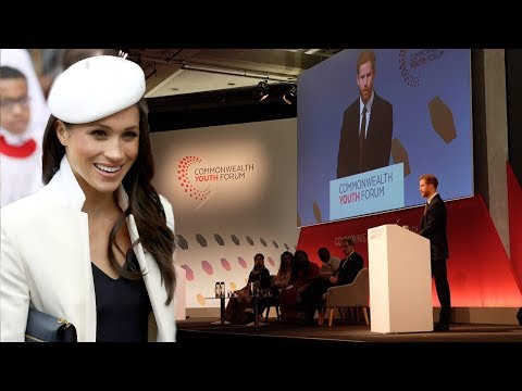 Prince Harry gives Meghan a SWEET shout-out during Youth Forum