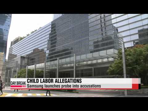 Samsung Electronics suspends business with Chinese supplier over child labor accusations