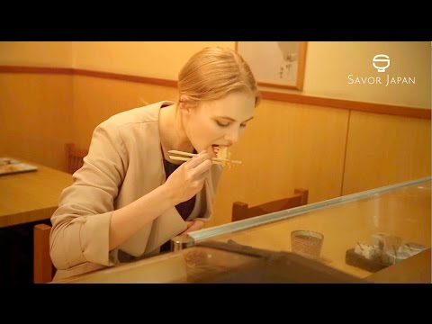 Learn from the master chef How to eat -TEMPURA- 【臺灣話】