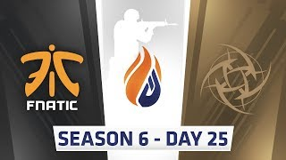 ECS Season 6 Day 25 Fnatic vs NIP Overpass