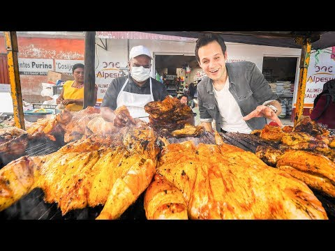 GOD LEVEL Street Food in Mexico 2.0 | MONSTER BBQ Chicken + SUPER FAST Mexican ICE CREAM NINJA