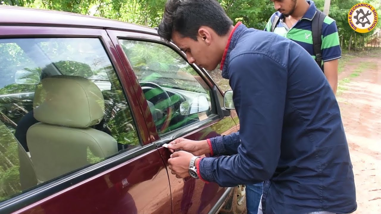 How to Unlock Car door without Key || problem in four wheeler Part-1 ||