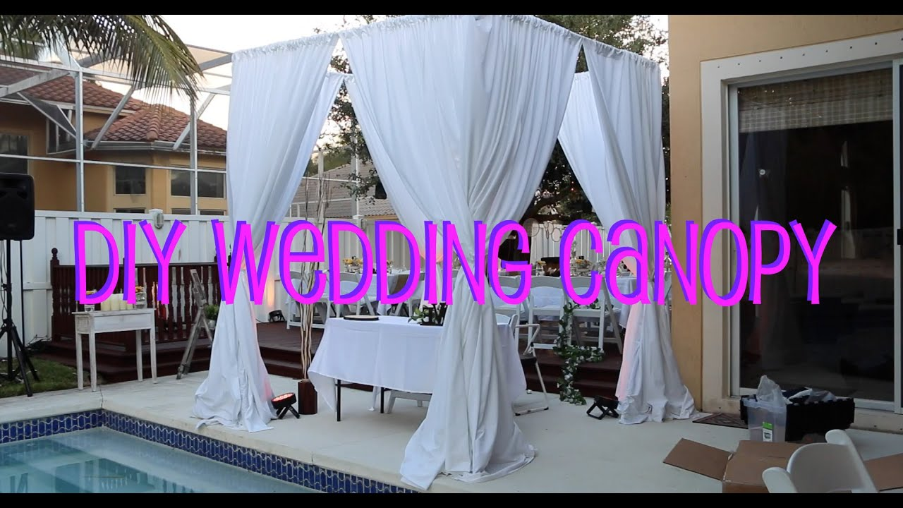 Diy wedding canopy youtube for How to create a canopy