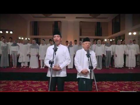Video K Anye Bpk Jokowi Kh Ma Ruf Amin Di Sertai Sholawat Kpda Nabi Muhammad Saw