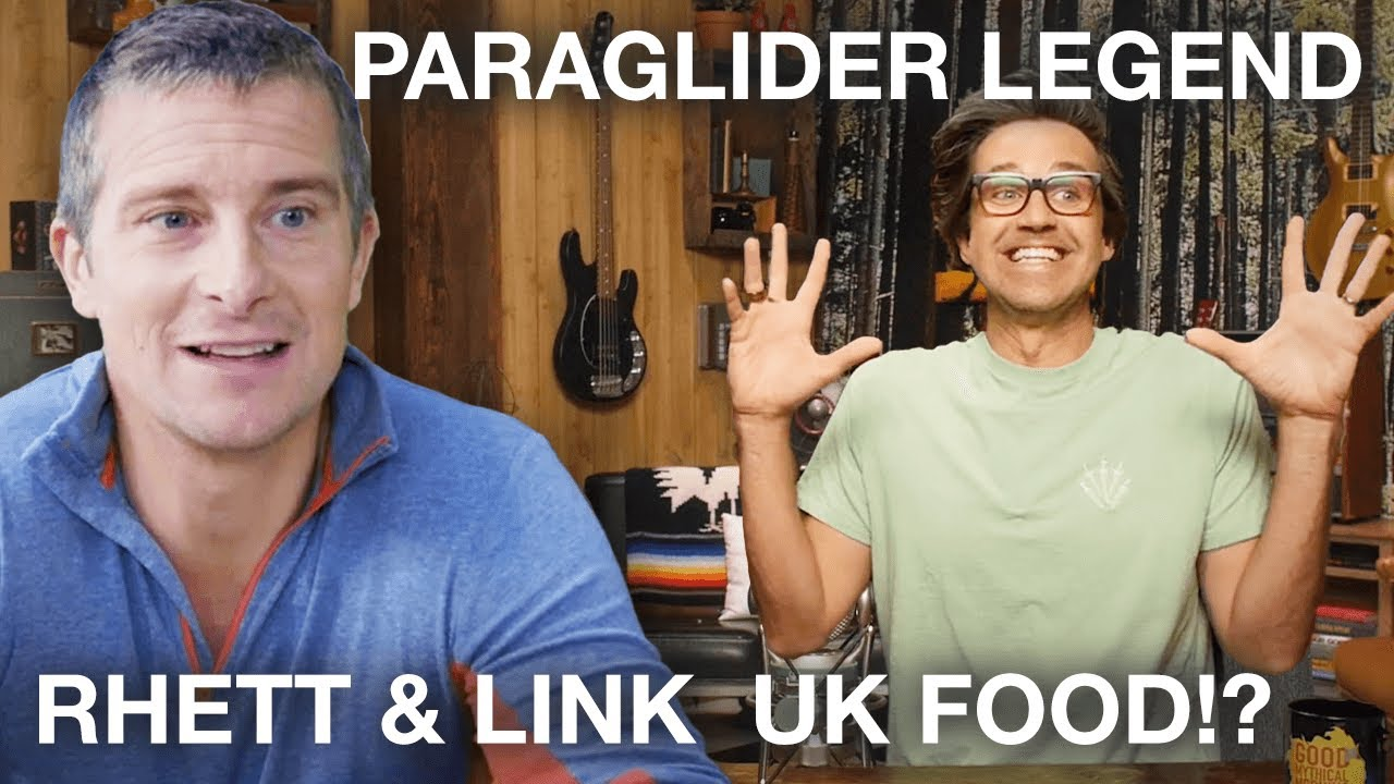 Food Challenge with Rhett and Link & Paragliding - Best of Bear
