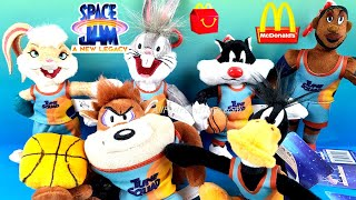 SPACE JAM 2 A NEW LEGACY COMPLETE SET PLUSH KEYCHAINS McDONALD'S HAPPY MEAL TOYS COLLECTION UNBOXING