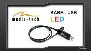 Świecący kabel USB od Media-Tech - prezentacja