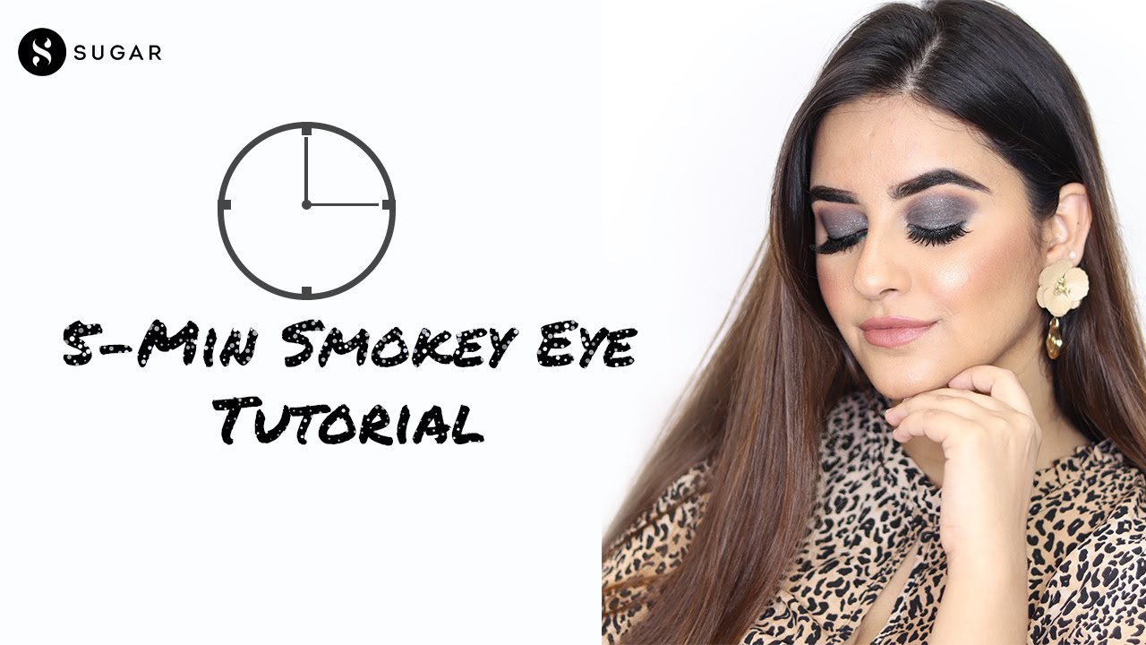 5 Minute Smokey Eye Tutorial | MUST WATCH Easy Glam Festive Makeup Look | SUGAR Cosmetics
