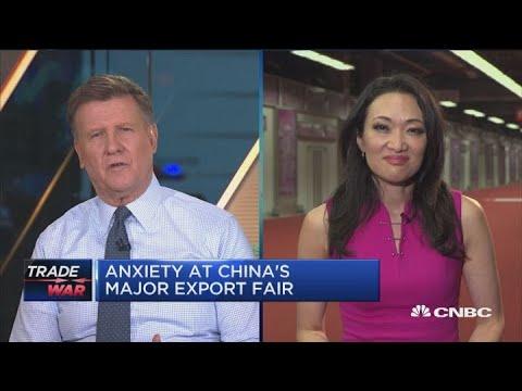 Anxiety at China's major export fair over trade tariffs