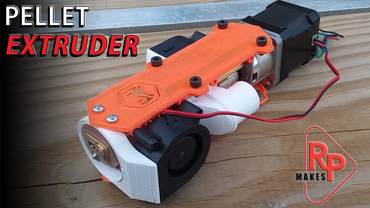 Pellet Extruder For 3d Printer Hotend Youtube