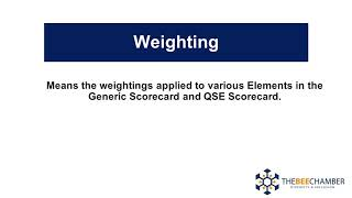 Definitions Weighting