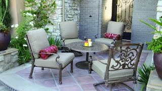 Patio Furniture Ideas - Top 10 Cast Aluminum Patio Deep Seating Set - Antique Bronze