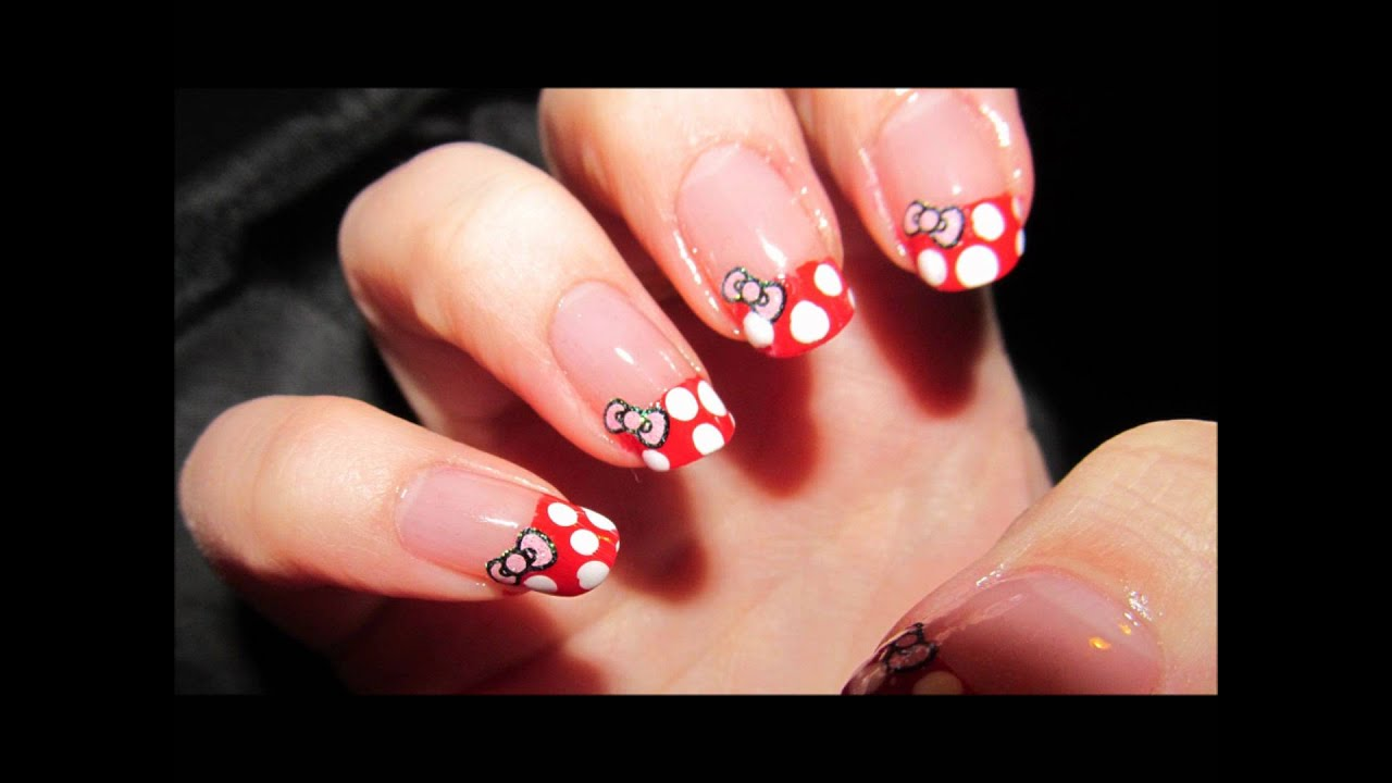 kitty minnie mouse nail