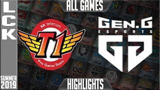SKT vs GEN Highlights ALL GAMES | LCK Summer 2019 Week 4 Day 4 | SK Telecom T1 vs Gen.G