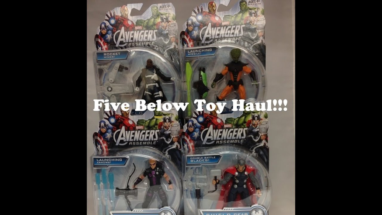 Toys From Five Below : Five below avengers assemble toy haul youtube