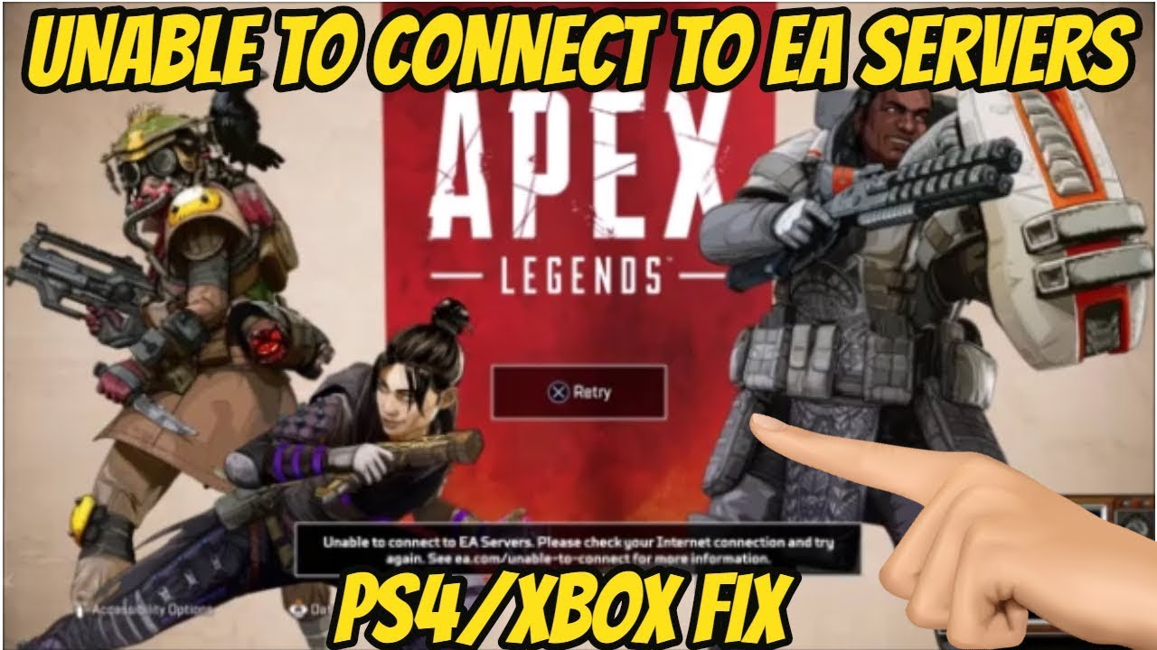 Apex Legends Unable to connect to EA SERVERS PS4/XBOX FIX
