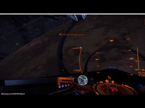 Elite Dangerous Looking at planet textures + Flying 3rd person view.
