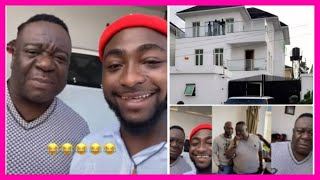 Davido and Nollywood actor Mr Ibu hang out in his luxurious mansion (video)
