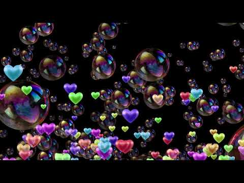 LOVE & BUBBLES black screen background video effect thumbnail