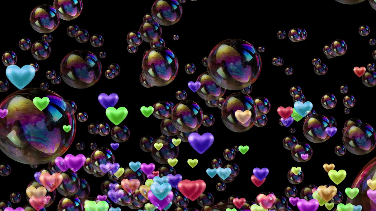 Love Bubbles Black Screen Background Video Effect Youtube
