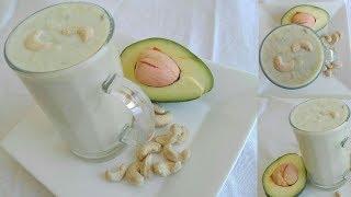 Healthy avocado cashew milk l butter cashew milk l kitchen with aina
