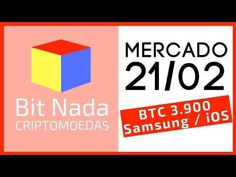 Mercado de Cripto! 21/02 Bitcoin 3.900 / Altcoins Recuam / Samsung cripto / iOS teclado Bitcoin