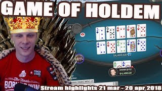 Game of Holdem! 21 Mar - 21 Apr Stream highlights.