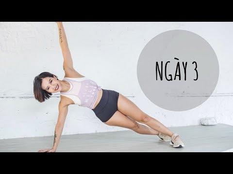 7 ngày siết mỡ bụng + thực đơn | Ngày 3 | Workout #104 | Hana Giang Anh