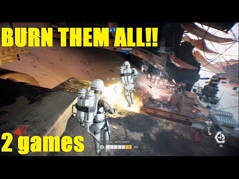 """Star Wars Battlefront 2 - """"BURN THEM ALL"""" - Mad King & Darth Maul killstreak (2 games) thumbnail"""