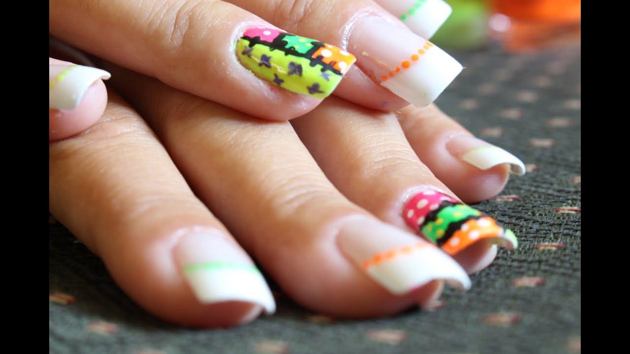 Decoración uñas de colores (Britto) - YouTube