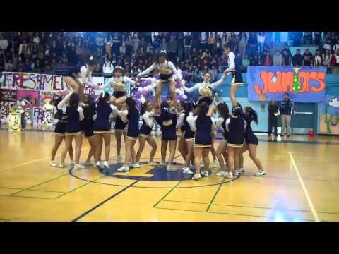 Jeffesron High School Daly City Cheerleaders Winter Rally 2013