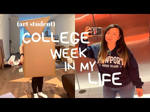 COLLEGE WEEK IN MY LIFE | art student at TEMPLE