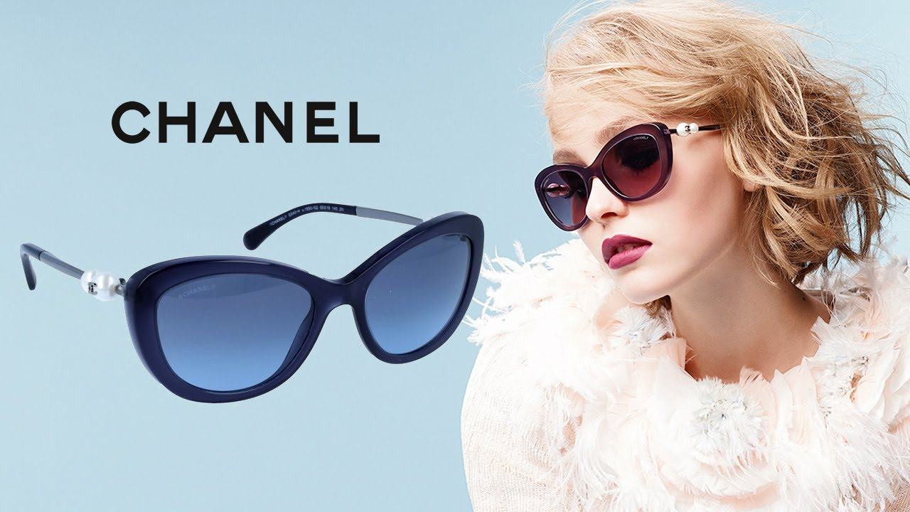 73676165c31 CHANEL Cat Eye Pearl Sunglasses - YouTube