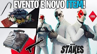 NOVO ITEM NO BATTLE ROYALE E NOVIDADES DO NOVO EVENTO HIGH STAKES! - Fortnite