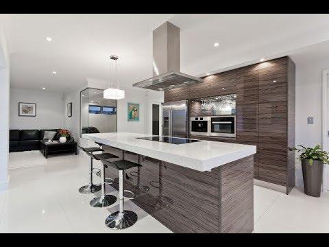 Desain Meja Dapur Dari Granit Warna Putih Natural Dan Asri