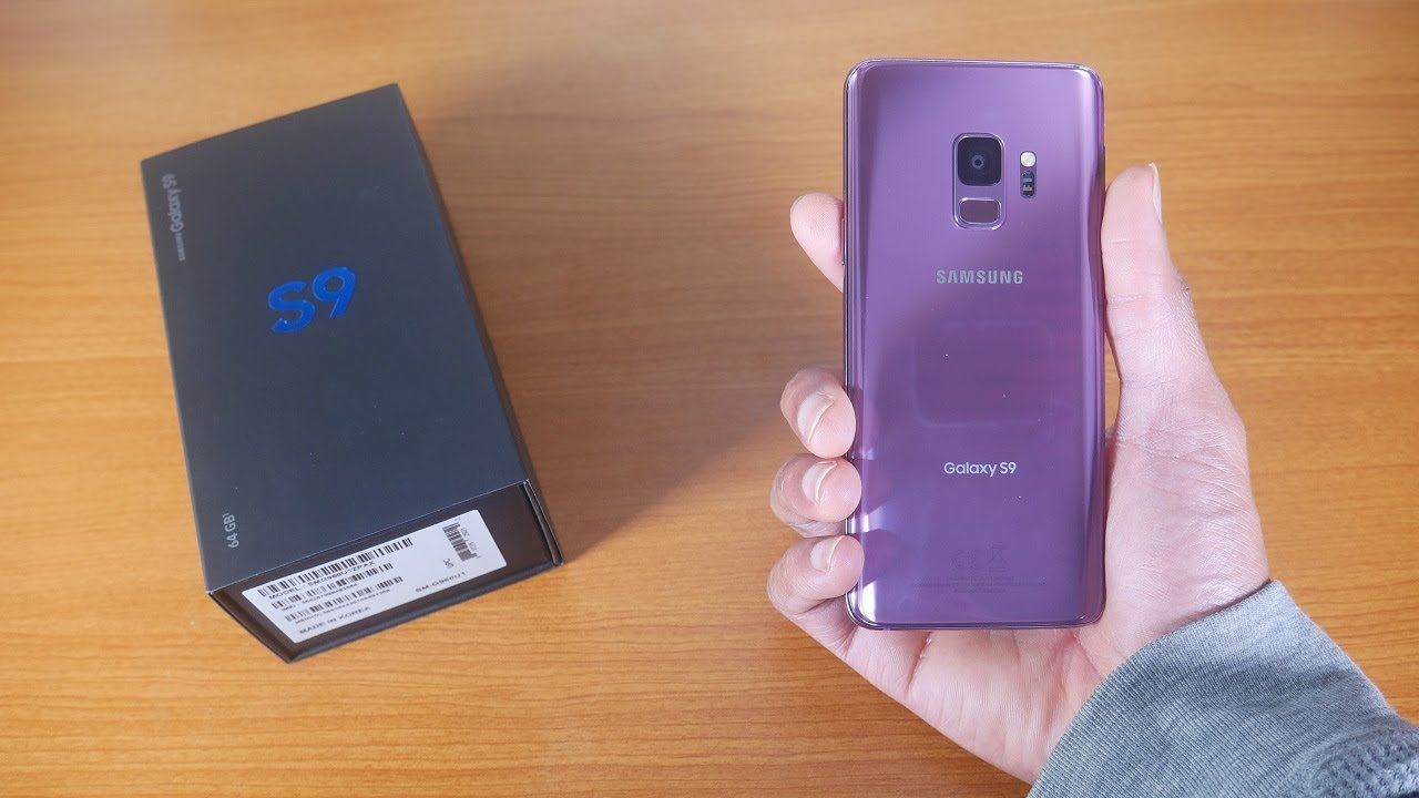 Samsung Galaxy S9 Lilac Purple Unboxing - YouTube