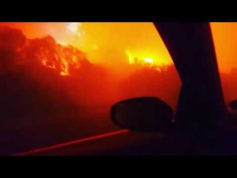 Driving through the Knysna fires