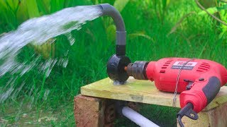 How to make Drill water pump at home
