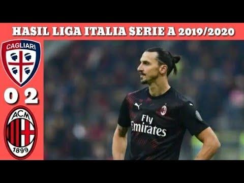 Hasil Liga Italia Serie A Tadi Malam - Cagliari Vs Ac Milan Dan Klasemen 11 Januari 2020 Pekan 19