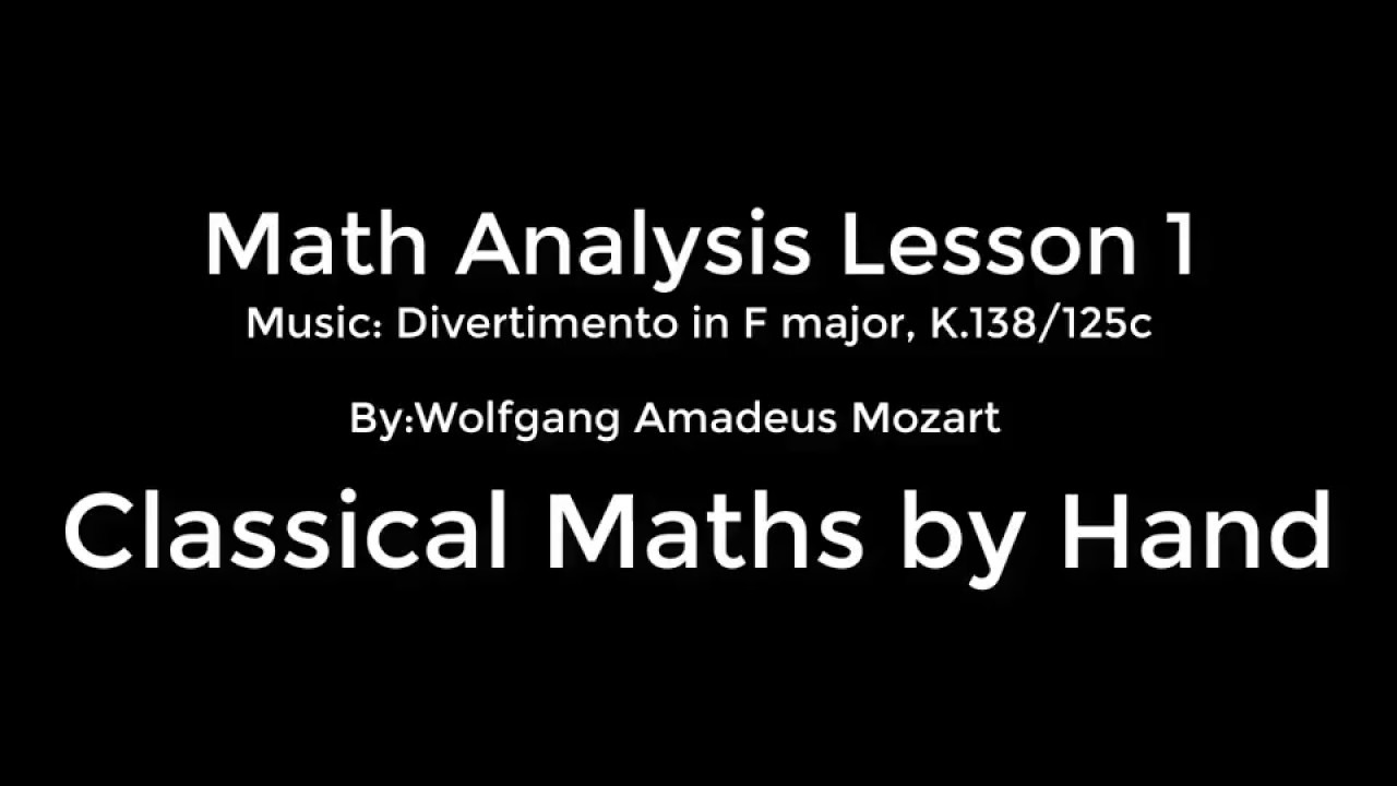 Math Analysis 1 Lesson 1: prove using Epsilon BIG N definition - YouTube