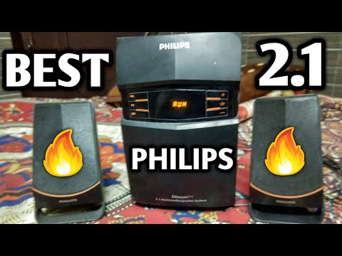 PHILIPS 2.1 MMS-2550F/94 Channel Multimedia Speakers System (Black)