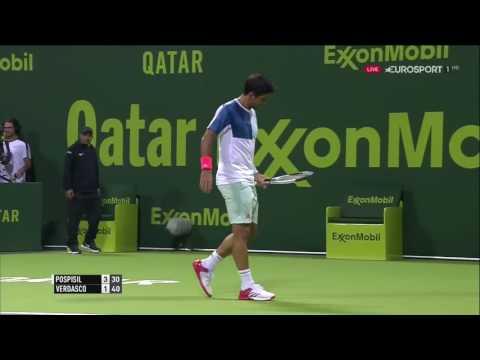 Vasek Pospisil vs Fernando Verdasco FULL MATCH HD Qatar ExxonMobil Open 2017 PART 1