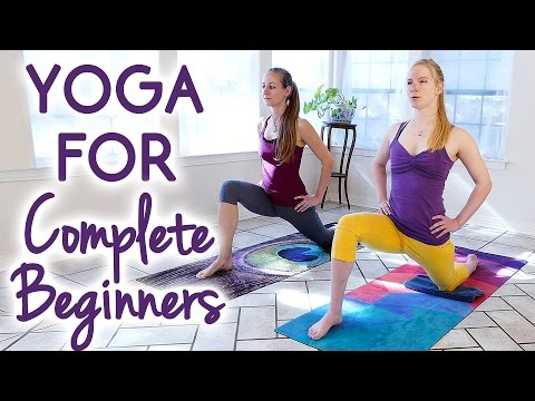 Yoga for Complete Beginners to Improve Flexibility | 25 Minute Relaxing Stress Relief Stretches